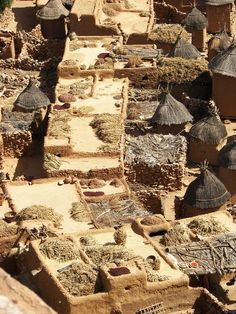 SAHEL Dogon village aerial, Mali