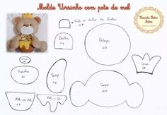 molde de ursinho em feltro - Pesquisa Google