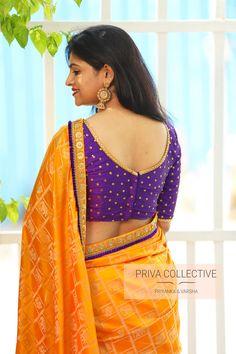 <br> A Road MLA Colony Banjara Hills Hyderabad - <br> Contact : 9160560480 to Brocade Blouse Designs, Saree Blouse Neck Designs, Simple Blouse Designs, Blouse Models, Saree Models, Mirror Work Saree Blouse, Hyderabad, Kurta Designs Women, Fancy Sarees