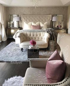 Glam Bedroom Home Decor Inspo Master Suite