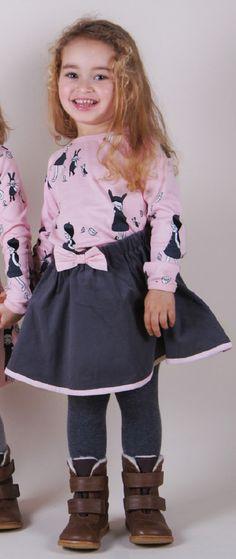 T-shirt ML parisienne (29€) et jupe en velours (40€) Krutter