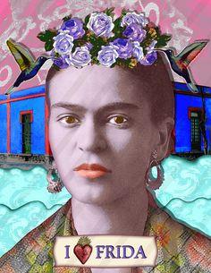7 Frida Kahlo Blue House Digital Collage Instant