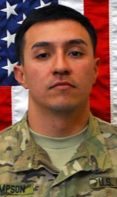 Army 1stLt. Alejo R. Thompson, 30, of Yuma, Arizona. Died May 11, 2012, serving during Operation Enduring Freedom. Assigned to 1st Battalion, 12th Infantry Regiment, 4th Brigade Combat Team, 4th Infantry Division, Fort Carson, Colorado. Died in Bagram, Afghanistan, when enemy forces attacked his unit with small-arms fire.