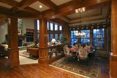 Craftsman Plan: 7,900 Square Feet, 5 Bedrooms, 5.5 Bathrooms - 341-00296