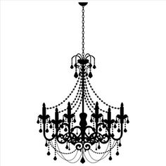 Old Fashioned Candle Chandelier Wall Stickers Wall Art Decal 02 - Vinyl Sticker Wall Art Deco Decal - Width - Black Vinyl Vinyl Wall Decals, Wall Stickers, Vinyl Lettering Quotes, Stencils, Candle Chandelier, Chandeliers, Stencil Patterns, Craft Patterns, Art Deco Design