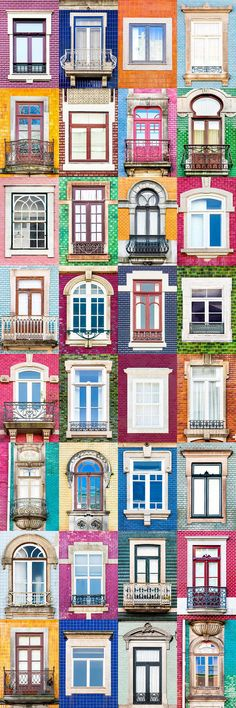I Traveled All Over #Portugal To Photograph Windows, And Captured More Than 3200 Of Them - via BoredPanda 23-10-2017 | If you are planning a trip to Portugal, you can see which are the most beautiful cities to visit or what kind of architecture you like the most. Photo: Porto
