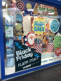 This is a busy window but the Black Friday message is getting biggest shout here at The Entertainer as it differentiates through strong use of contrasting black and is positioned at the front of the window