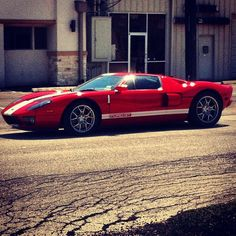 Devil red Ford GT!  The best Ford Sportscar ever made.  Ford's only SuperCar.  Too bad they're WAY Overpriced.....unless you're at least a millionaire.