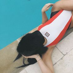 Pin for Later: Kylie Jenner Is on a Mission to Start the Next Big Swim Trend She Also Paired the One-Piece With a Furry Hat Is this the new trend?