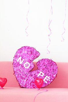 DIY Broken Heart Valentine's Day Piñata