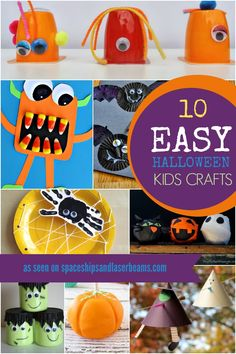 Check out these great and easy Halloween craft ideas perfect for a Halloween party or a fun afternoon of creative crafting.