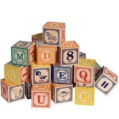 Uncle Goose Classic Alphabet Blocks | Made in the USA