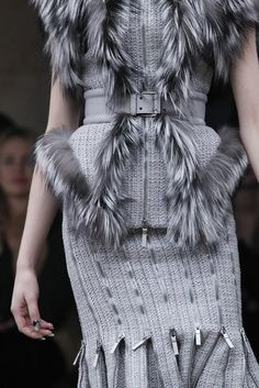 Waitbelt, (faux) fur, zipper details    Alexander McQueen Fall 2011 Ready-to-Wear - Collection - Gallery - Style.com