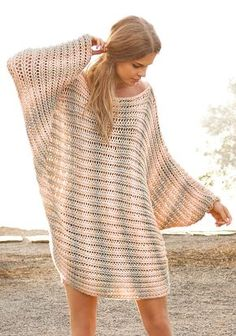 Items similar to Hand knitted melange rose-grey-white poncho. Crochet Pullover Pattern, Poncho Knitting Patterns, Knitting Designs, Crochet Patterns, Poncho Pullover, Wool Poncho, Summer Knitting, Sweater Fashion, Crochet Clothes