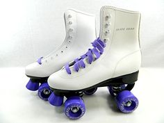 Big Boy Speedy Roller Skate Kids Youth Adult Men Women Size 1-13 (White Purple, 7 (Adult Men)) | Your #1 Source for Toys and Games