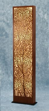 Decorative Wood Floor Lamp: Sea Fan