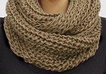 Snuggle Infinity Scarf - Brown