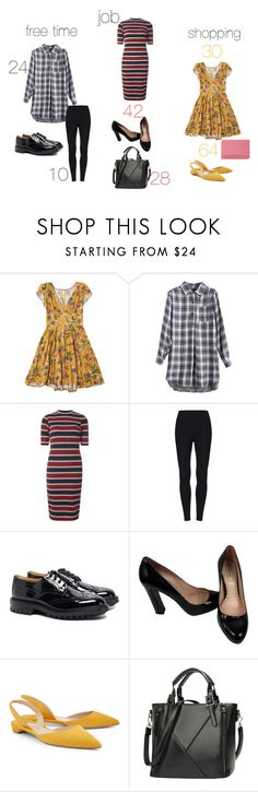 """""""under 100"""" by susibonvi ❤ liked on Polyvore featuring Dorothy Perkins, Tricker's, Miu Miu, Paul Andrew and Dune"""