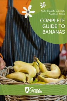 If you love bananas, you're in for a treat. I share fascinating banana facts, benefits, tutorials, recipes and videos in this epic ultimate guide to bananas. Fruit Drinks, Fruit Smoothies, Banana Recipes, Fruit Recipes, Raw Vegan Recipes, Vegan Food, Banana Facts, Fruit Facts, Fruit List