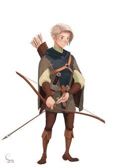 archer, Hong SoonSang on ArtStation at https://www.artstation.com/artwork/r9lOe