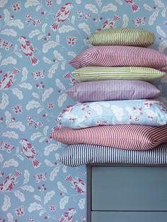 Gilpin Stripe & Brisley Stripe fabrics by Jane Churchill