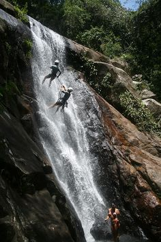 Climbing a waterfall - sounds pretty badass want to try this and not die!