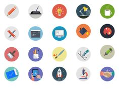 Creativity icons by sumit chakraborty