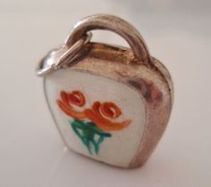 Silver & Enamel Cow Bell Charm or Pendant on Etsy, $45.02
