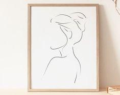 Minimal woman face line artprintable wall artfemale Geometric Painting, Abstract Line Art, Minimal Drawings, Art Drawings, Beige Art, Outline Art, Cactus Wall Art, Art Mural, Simple Art