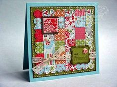 different take on the quilt card using something other than the top note die - LOVE it!