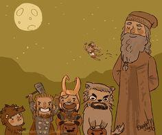 Halloween in Middle-Earth.  WHO IS IN THE SKY?  IS THAT THRANDUIL? AAAAAHHHHH!!!!!!!!  hahahahahahahahaha!