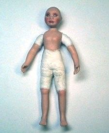 how to: assembling a miniature doll using pipe cleaners/chenille stems and cotton balls