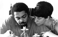Gilberto Gil e Nana Caymmi, na época sua esposa, 1968, Arquivo/AE