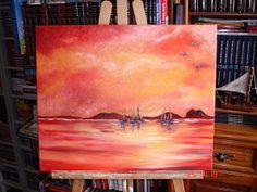 Pinturas a óleo feitas por mim.