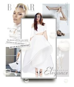 """""""White"""" by kari-c ❤ liked on Polyvore featuring moda y Rosie Assoulin"""