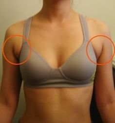 "Exercises to help you get rid of that ""armpit bulge"" for swimsuit season."