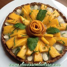 O Diário de Receitas Sem Lactose: Torta Refrescante com Creme de Limão e Manga