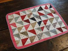 Antique 1880's Tiny Doll Quilt - So Charming, antiquesnavegator