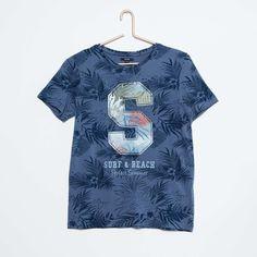 Camiseta de algodón con estampado de hojas Joven niño - Kiabi - 8 96245eea305ad