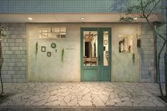 ciabirth ヘアーサロン [藤沢] 店舗デザイン.COM Entrance Design, Facade Design, Door Design, Exterior Design, House Design, White Aesthetic Photography, Cafe Door, Cafe Shop Design, Coffee Shop Business