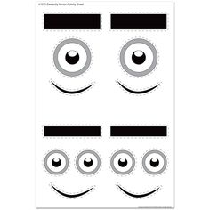despicable me 2 inspired printable minion party mask set