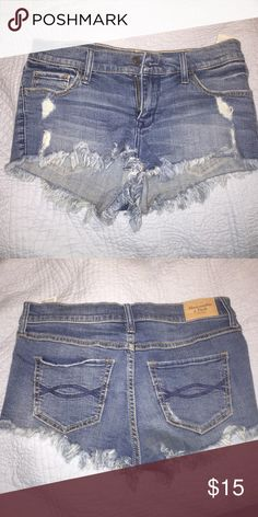 Abercrombie Shorts Denim, Short shorts, low rise, size 26 or 2 Abercrombie & Fitch Shorts Jean Shorts