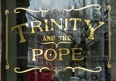 Glass Gilding gold leaf window lettering NYC Bob Gamache 23k Gold leafing on glass