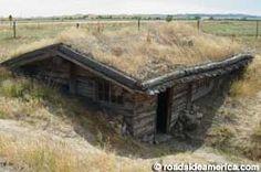 Fur trading post. classic Great Plains soddy. Chadron, Nebraska