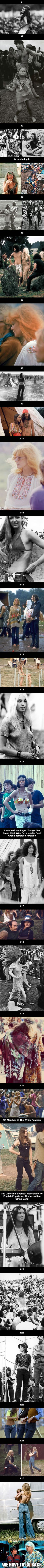 Girls from Woodstock, 1969. Great Scott, we have to go back. - 9GAG