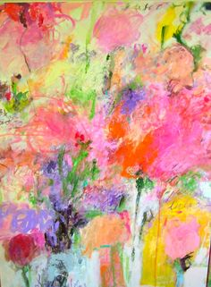 Spring came to my garden...artist, Sandy Welch