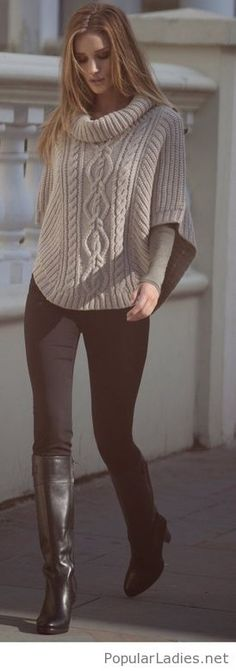 black-boots-and-pants-with-a-cozy-grey-sweater