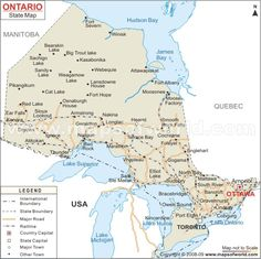 map of ontario explore ontario map it is one of the 10 provinces of canada located in east central and known as canadas most populous province