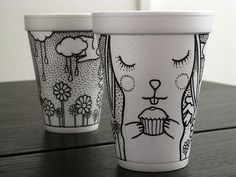 Design. Thoughts. Life.: Coffee cup art. Drawings by Cheeming Boey
