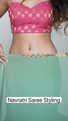 Dress Indian Style, Indian Fashion Dresses, Indian Designer Outfits, Saree Wearing Styles, Fancy Dress Design, Saree Trends, Stylish Sarees, Elegant Saree, Half Saree